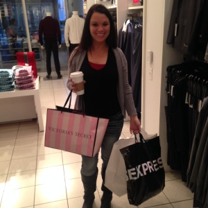 This was me after my $200 shopping spree from winning!